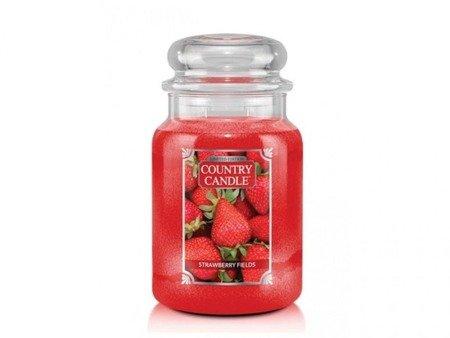 COUNTRY CANDLE Duży Słoik Strawberry Fields 652g