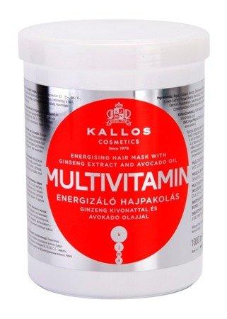 KALLOS MULTIVITAMIN Energetyzujaca Maska do Włosów 1000 ml