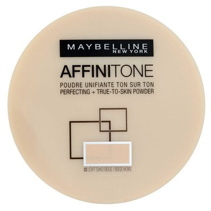 MAYBELLINE Affinitone Puder W Kamieniu 03 Light Sandbeige 9g