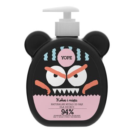 YOPE Naturalne Mydło dla Dzieci Kokos i Mięta 400ml